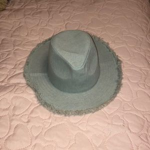 Denim cowgirl hat